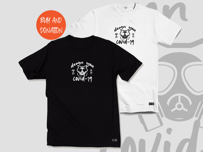 Buy and Donation Upstain Wear Black White Tshirt Covid-19 brand virus corona covid19 streetwear kaos design fashion donation tshirt