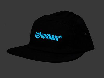 Topi 5 Panel Glow In The Dark Upstain Wear Brand glow in the dark logo fashion cap design topi