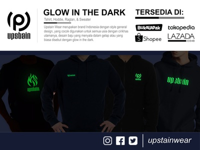 Upstain Wear Glow In The Dark Banner Promotion