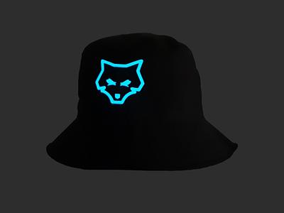 Upstain Wear Black Buckethat Glow In The Dark Wolf Edition brands brand cap fashion streetwear upstain upstain wear buckethat