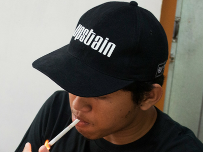 Upstain Wear Original Brand Black Cap Glow Blue In The Dark upstain wear street wear look book baseball cap apparel caps cap