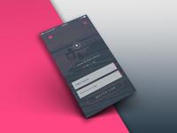 Mobile ui   broadcast login  mock