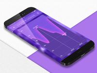 Mobile UI (Statistics—Comparison Graph)
