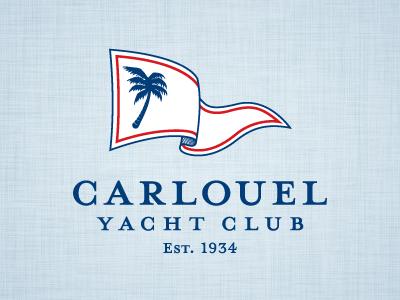 Carlouel Yacht Club yacht club sailing burgee flag florida clearwater rebranding logo