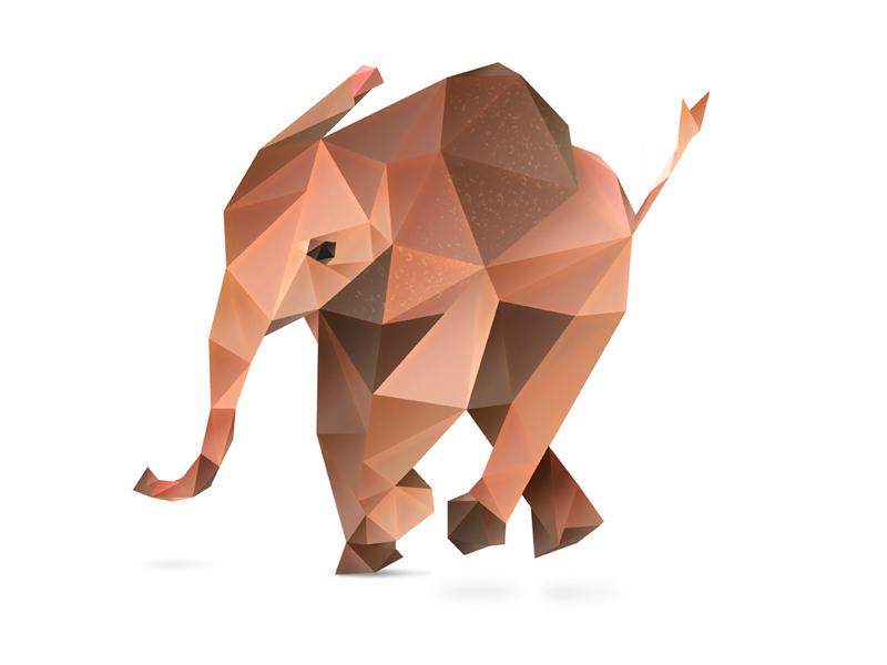 Elephant. animal safari cute animals animals photoshop vector low poly low polygon african elephant vector art photoshop cc elephant