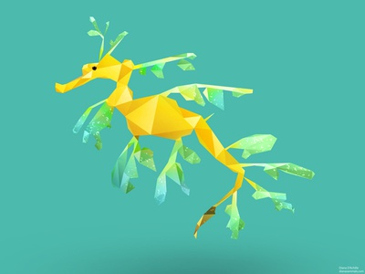 Low Poly Leafy Sea Dragon