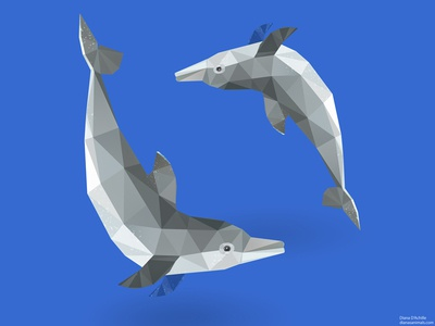Low Poly Dolphins.