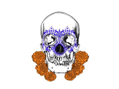 Skullcandy white digitalart textures blackwork illustration