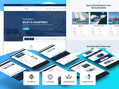 Davit – Yacht Charter Booking and Buy-Sell WordPress Theme ux design uidesign wordpress theme design sell buy creative boat charter yacht club yachting yacht