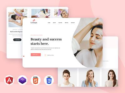 Leospa – Clean & Minimal Angular Template download clean ajax ux  ui creative agency wellness leo spa beauty application angular design salon