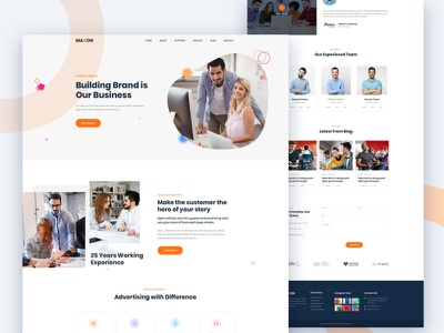 Maxon - Creative Agency template PSD (Free Download) ux  ui ui creative corporate design free psd html homepage freebie agency free
