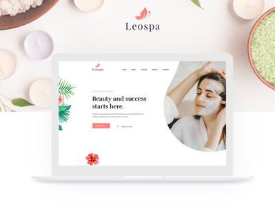 Leospa -Spa Onepage PSD Template (Freebie)