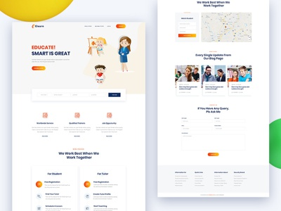 Elearning -  Education Template (Free PSD) freebie psd html university teaching school react template react education react learning educational education tutor education learning education kids education e-learning courses college