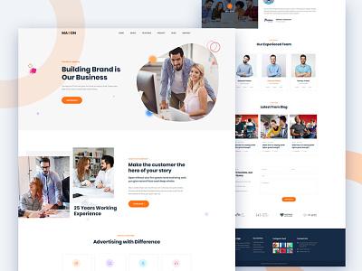 Maxon – Creative, Agency, Corporate React Template react native redsign responsive template reactjs react