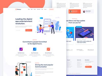 Pentrax – Creative App Landing Template HTML & PSD (Freebie)