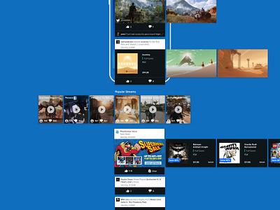 Playstation App Redesign ui game sony playstation ios app