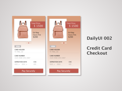 Daily UI 02_Credit Card Checkout