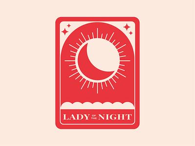 Tarot Card tarot cards tarot deck night lady moons red tarot card sparkle moon tarot