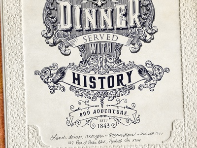 Lunch & dinner served with history & adventure. (The Standard) print