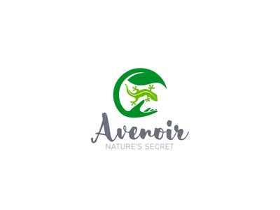 Salamander With Natural Leaf Cosmetics Logo Design