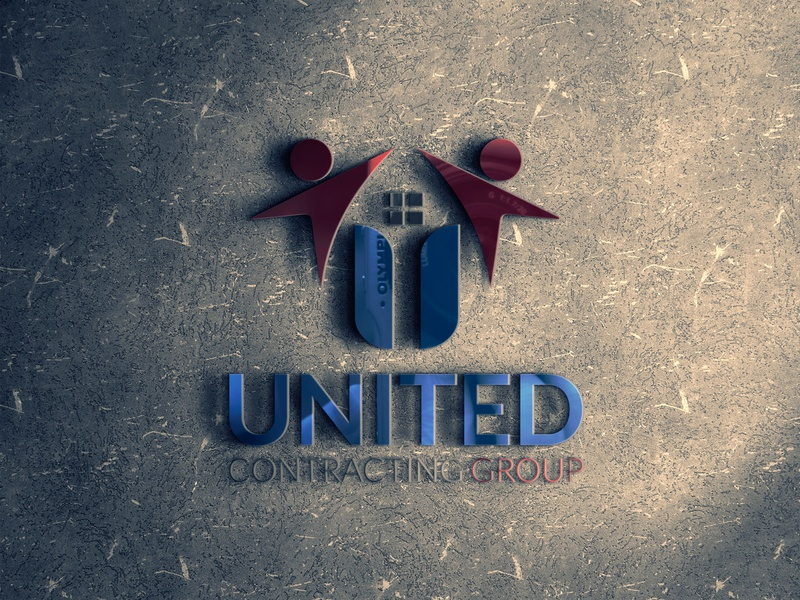 Unique U Contracting Group Logo Design logotype free download business company group minimal logo design realestate logo realistic letter u