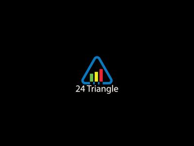 24 Triangle company simple logo design