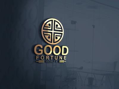 Good fortune company logo design