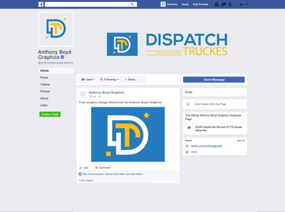 DT logo with Facebook social media