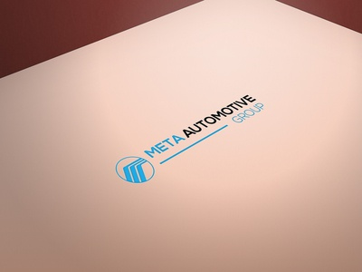 Meta automotive group logo design