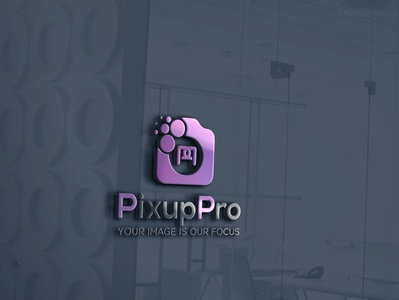 Pixup camera logo design