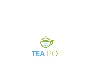 cannabis  TEA POT logo design