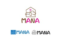 mana cats and dog product shop logo design