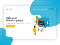 One pay! - Landing Page Design