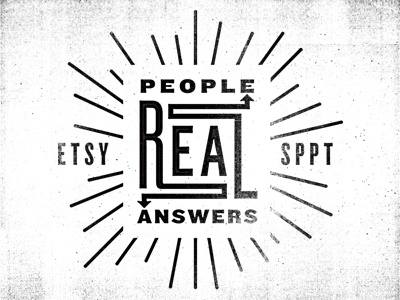 Real People, Real Answers typography texture arrow etsy print
