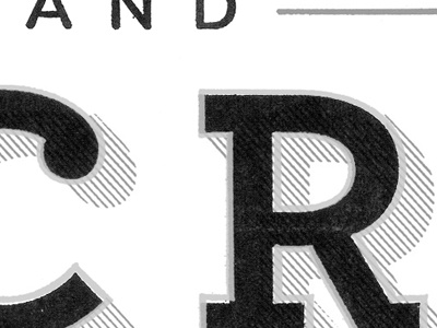 Orchard and Acre type texture logo