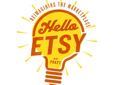 Hello logo illustration typography lightbulb knockout radio etsy type texture