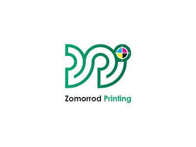 Zomorrod Printing Office branding typography vector design logo