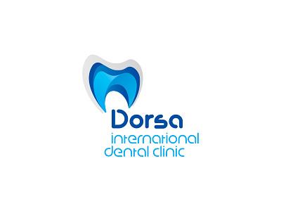 Dorsa dental clinic vector branding design logo