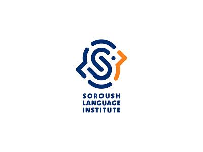 Soroush language institute vector design logo branding