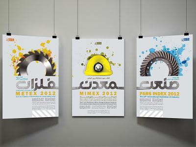 triple posters of pars index, mimex & metex poster design poster design