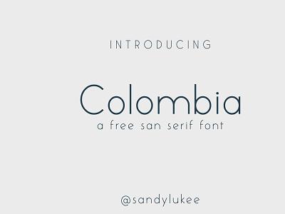 Colombia FREE san serif font type sans sans serif free typeface fontstyle fonts typography font