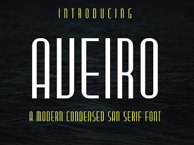Aveiro modern Condensed San Serif Font condensed font condensed modern sans serif typeface vector fontstyle typography fonts font