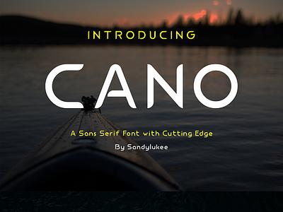 Cano Sans Serif Font with Cutting Edge by Sandylukee vector logo design typography adobe illustrator serif sans serif fontstyle fonts font