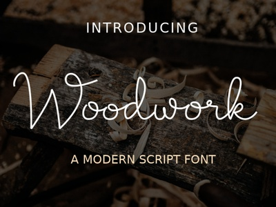 Woodwork preview monoline handlettering typography gimp fontforge inkscape script vector illustration fontstyle fonts font