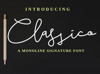 Classico Monoline Signature Font