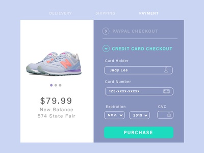 Dailyui#002_Credit Card Checkout