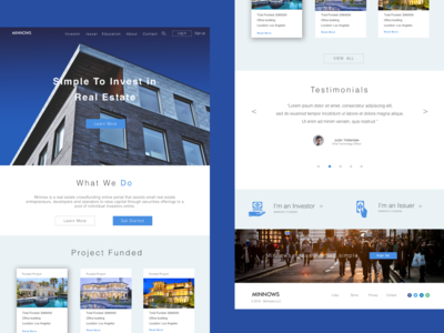 Minnows Funding - Landing Page