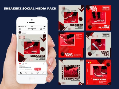 Sneakerz Social Media Pack shopping shoes set sales sale psd post online shop offer instagram story instagram post instagram hypebeast fast shipping fashion discount design business banners banner set
