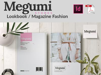 MEGUMI | Lookbook / Magazine Fashion Template typography design magazine template templates lookbook magazine design magazine