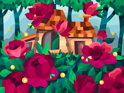 Old flower house house flowers flower color coloringbook drawing artwork digitalart digital artist illustration cartoon illustration cartoon design
